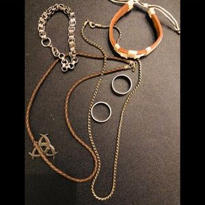 Other - Men Jewelry Lot: 6 Pieces